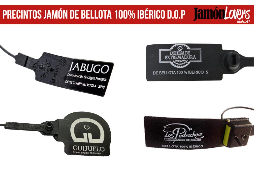 Precintos Jamón de Bellota 100% Ibérico Denominaciones de Origen Protegidas Jamón