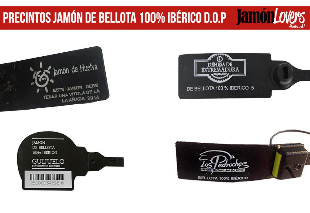 Precintos Jamón de Bellota 100% Ibérico DOP (Denominación de Origen Protegida)