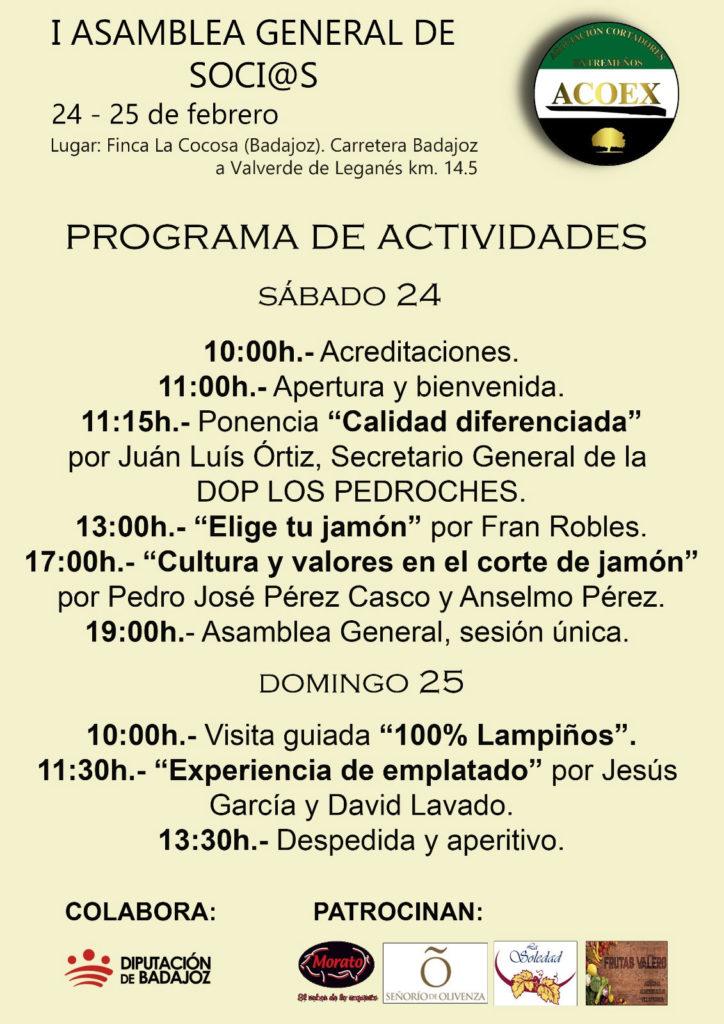 ACOEX celebra su I Asamblea y Jornadas Formativas sobre el jamón