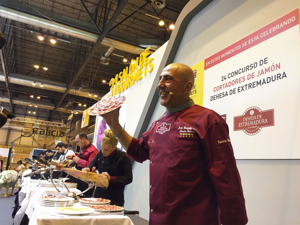 25 Concurso de Cortadores de Jamón Dehesa de Extremadura Salón Gourmets 2018