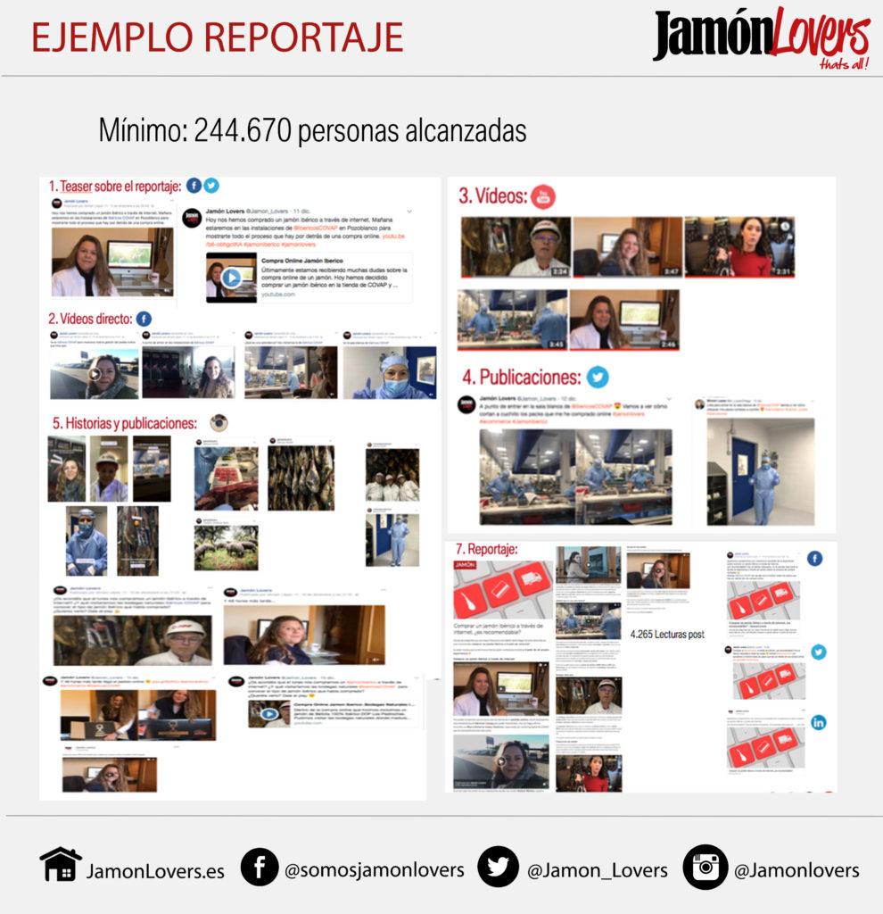 Ejemplo reportaje jamón