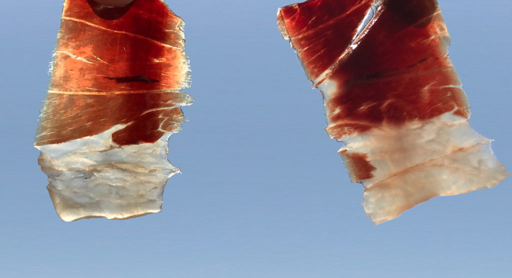 La grasa del jamón ibérico: La grasa del Jamón: Cómo el corte del jamón puede influir en la cata del jamón