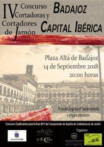 IV Concurso Cortadoras y Cortadores de Jamón Badajoz Capital Ibérica
