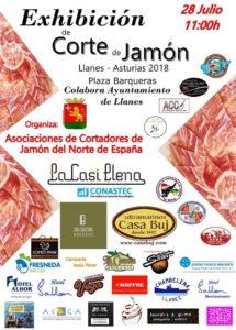 Exhibición de Corte de Jamón Llanes, Asturias