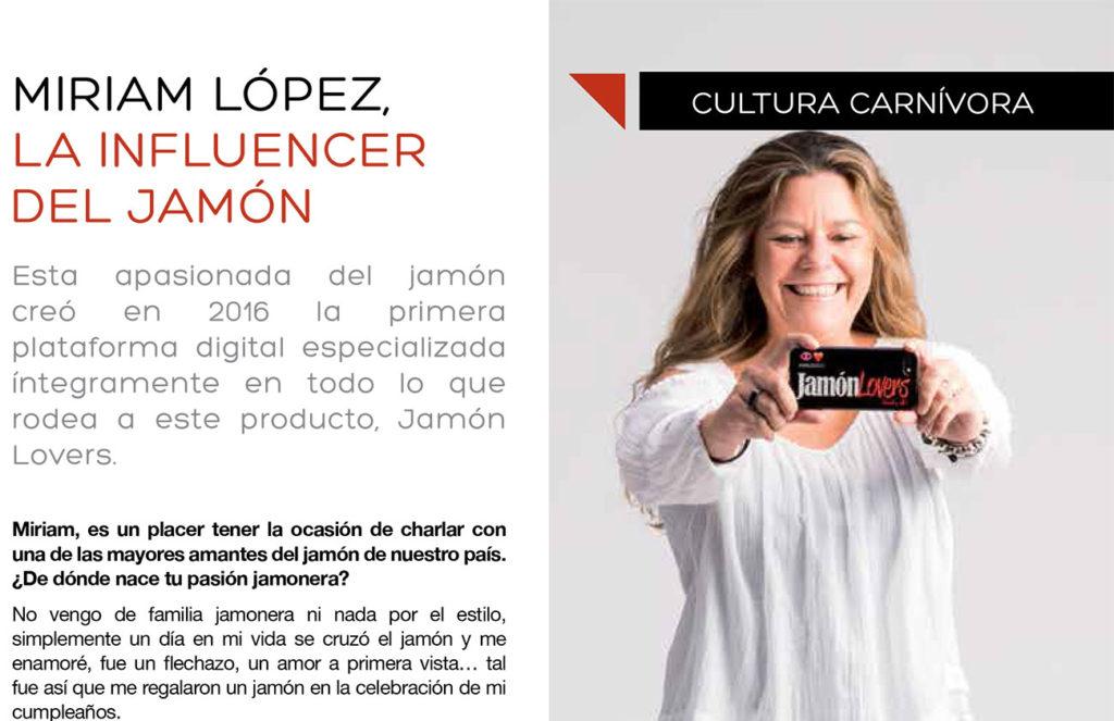 Miriam López la Influencer del Jamón