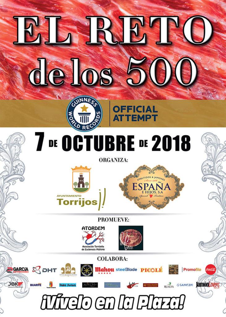 El Reto de los 500, la mayor concentración solidaria de cortadores de jamón