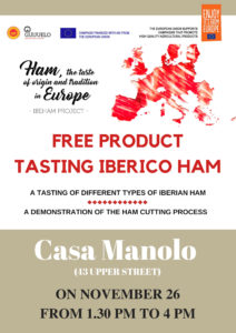 Degustación y presentación jamón Casa Manolo, Londres