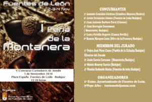 V Concurso de Cortadores de Jamón Fuentes de León, (Badajoz)