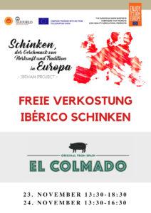 Presentación y degustación jamón El Colmado Berlin
