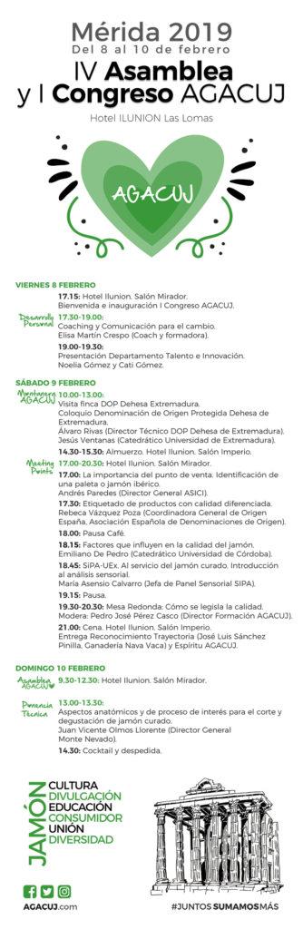 Programa I Congreso AGACUJ, congreso sobre el jamón