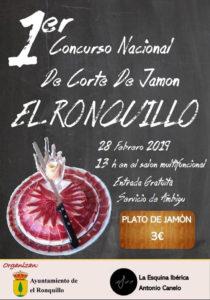 I Concurso Nacional de Corte de Jamón El Ronquillo