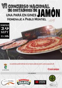 VI Concurso Nacional de Cortadores de Jamón una Pará en Ginés, Sevilla