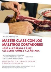 Master Class de Corte de Jamón, Feria del Jamón Los Pedroches Villanueva de Córdoba