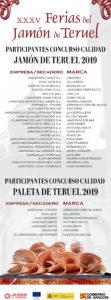 Concurso de Calidad al Mejor Jamón de Teruel 2019