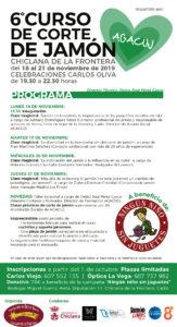 6ª Edición del Curso de Corte de Jamón Benéfico AGACUJ