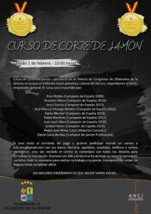 Curso de Iniciación al corte de jamón ANCJ