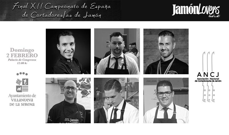 Finalistas XII Campeonato de España de Cortadores y Cortadoras de Jamón
