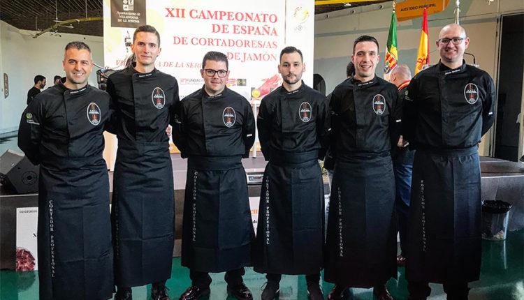 finalistas-XII-campeonato-espana-cortadores-jamon-ancj-villanueva-de-la-serena