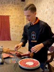 Emplatado jarrete jamón, Álvaro Diezma Campeón de España 2020