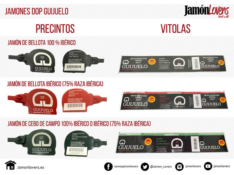 Tipos de jamones ibéricos DOP Guijuelo