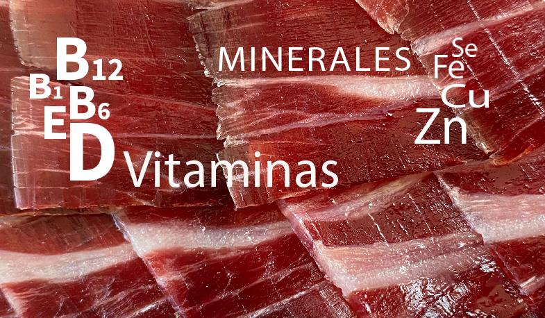 Vitaminas y Minerales Jamón Ibérico