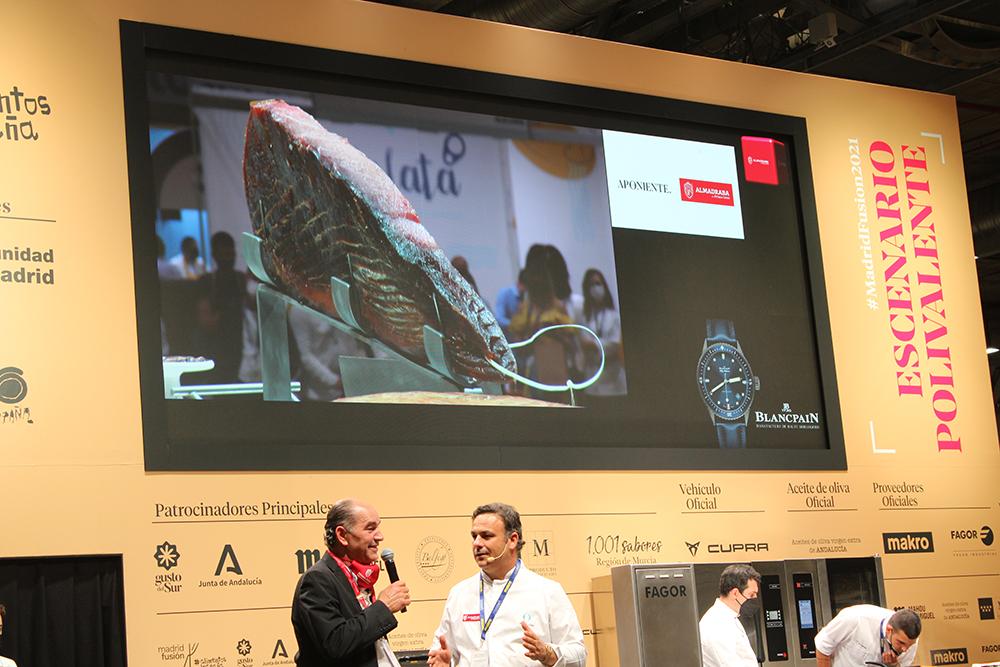 Jamón del Mar, Presentación Ángel León en Madrid Fusión