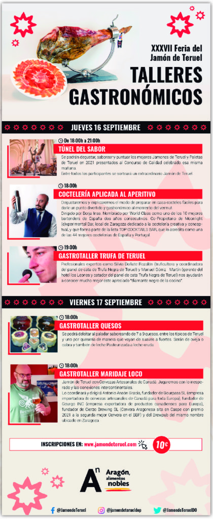 Talleres Gastronómicos XXXVII Feria del Jamón de Teruel